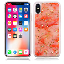 Load image into Gallery viewer, Slim Hybrid Marble Design Glitter TPU Case - Pink for iPhone X - fommystore