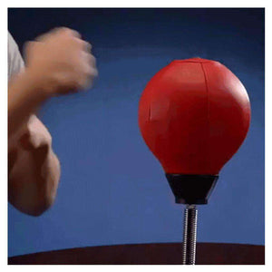 Desktop Punching Ball Stress Relief Buster Speed Fitness Vertical Boxing Ball with Suction Holder - fommystore
