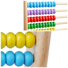 Load image into Gallery viewer, Wooden Kids Math Toys Wooden Abacus Teaching Learning Educational Preschool Training - fommystore
