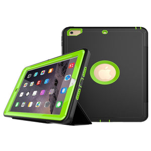 AMZER® TUFFEN 3-fold Magnetic Protective Case with Smart Cover Auto-sleep & Awake Function - Light Green for Apple iPad 9.7 - fommystore