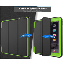Load image into Gallery viewer, AMZER® TUFFEN 3-fold Magnetic Protective Case with Smart Cover Auto-sleep & Awake Function - Light Green for Apple iPad 9.7 - fommystore