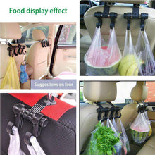 Load image into Gallery viewer, 2 PCS Car Vehicle Multi-functional Seat Headrest Bag Hanger Hook Holder Double Hooks - Black - fommystore