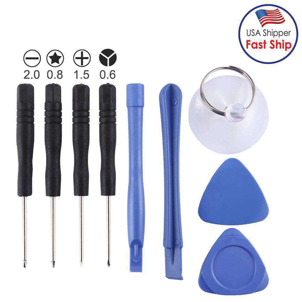 9 in 1 Disassembly 4 Screwdriver + 2 Teardown Rods + 1 Chuck + 2 Triangle Slices - fommystore