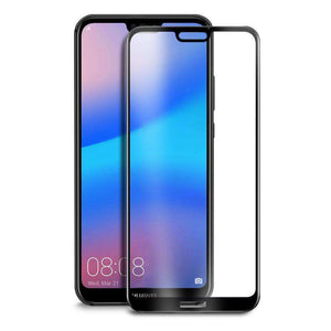 AMZER Kristal 9H Tempered Glass Edge2Edge Protector for Huawei P20 Lite - Black - fommystore