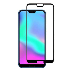 AMZER Kristal 9H Tempered Glass Edge2Edge Protector for Huawei Honor 10 - Black - fommystore