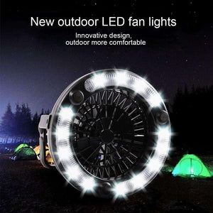 2 in 1 2.5W White Light LED Camping Tent Fan Light - fommystore