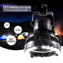 Load image into Gallery viewer, 2 in 1 2.5W White Light LED Camping Tent Fan Light - fommystore