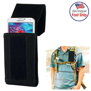 Stylish Outdoor Water Resistant Fabric Cell Phone Case - Black - fommystore