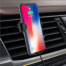 Load image into Gallery viewer, Wireless Charger Car Air Outlet Holder Charger For 4.7 inch to 6 inch Phones - Black - fommystore