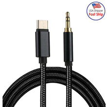Load image into Gallery viewer, AMZER® Type-C Male to 3.5mm Male Audio Cable - Black - fommystore