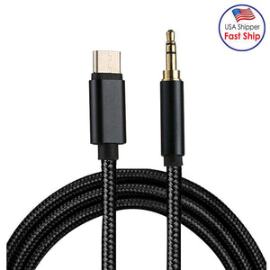 AMZER® Type-C Male to 3.5mm Male Audio Cable - Black - fommystore