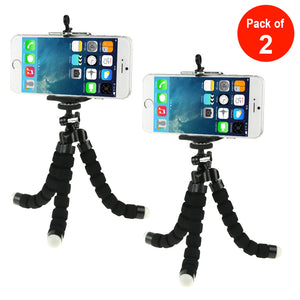 Flexible Octopus Bubble Tripod Holder Stand Mount for Smartphone, Camera - Black - fommystore