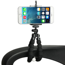 Load image into Gallery viewer, Flexible Octopus Bubble Tripod Holder Stand Mount for Smartphone, Camera - Black - fommystore