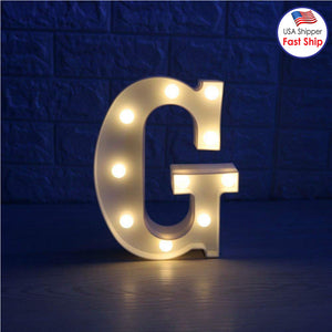 AMZER Alphabet A to Z Marquee Letter Shape Decorative LED Light for Wedding Birthday Party Christmas - fommystore