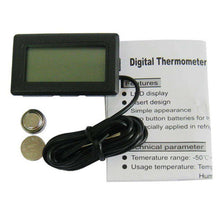 Load image into Gallery viewer, Mini LCD Digital Thermometer for Fridge Freezer, Insert Size 46mm x 26.6mm - Black - fommystore