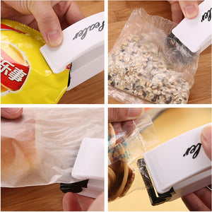 Multi-function Mini Portable Handy Plastic Bag Sealer Sealing Machine - White - fommystore