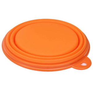 Portable Stretchable Silicon Food Feeder Dish Serving Bowl Water Container for Cat, Dog, Pet (Random - fommystore