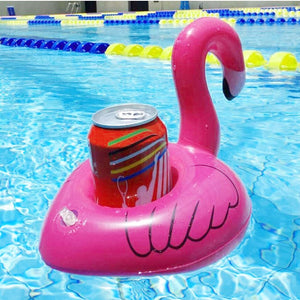 Inflatable Flamingo Shaped Floating Drink Holder