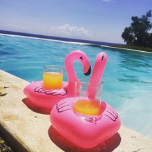 Load image into Gallery viewer, Inflatable Flamingo Shaped Floating Drink Holder