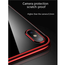 Load image into Gallery viewer, AMZER® Semi Electroplating Side TPU Protective Back Cover Case - Red for iPhone X/ iPhone Xs - fommystore