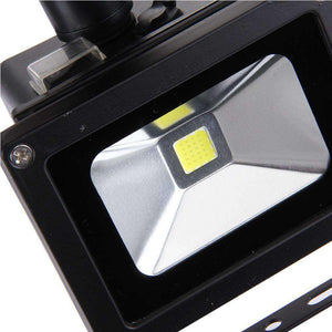 10W 900LM LED Infrared Sensor Floodlight Lamp with Solar Panel IP65 Waterproof - White Light - fommystore