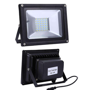 10W IP65 Waterproof Solar Power Flood Light 30 LEDs Smart Light with Solar Panel & Remote Control - fommystore