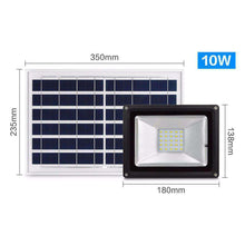 Load image into Gallery viewer, 10W IP65 Waterproof Solar Power Flood Light 30 LEDs Smart Light with Solar Panel & Remote Control - fommystore