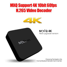 Load image into Gallery viewer, MXQ 4K Full HD OTT Media Player RK3229 Quad Core KODI Android 4.4 TV Box with Remote Control - Black - fommystore