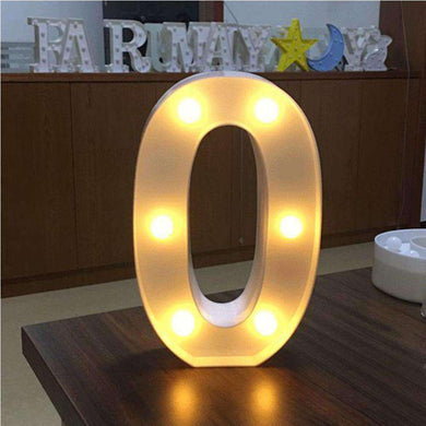 AMZER® Digit 0 Shape Decoration Light Dry Battery Powered Warm White Standing Hanging Light - fommystore