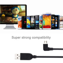 Load image into Gallery viewer, AMZER® 28cm 90 Degree Angle Left Micro USB to USB Data / Charging Cable - Black (Pack of 2) - fommystore