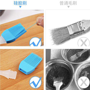 Silicone Brush Butter Spreader for Grilling Marinating Barbecue Baking (Random Color Delivery) - fommystore