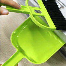 Load image into Gallery viewer, Mini Desktop Car Keyboard Sweep Cleaning Brush Small Broom Dustpan Set - Green (Pack of 2) - fommystore