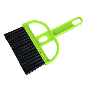 Mini Desktop Car Keyboard Sweep Cleaning Brush Small Broom Dustpan Set - Green (Pack of 2) - fommystore