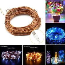 Load image into Gallery viewer, AMZER Fairy String Light LED 10m Waterproof USB Operated Festival Lamp Decoration Light Strip - fommystore