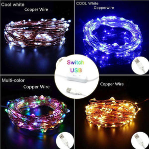 AMZER Fairy String Light LED 10m Waterproof USB Operated Festival Lamp Decoration Light Strip - fommystore