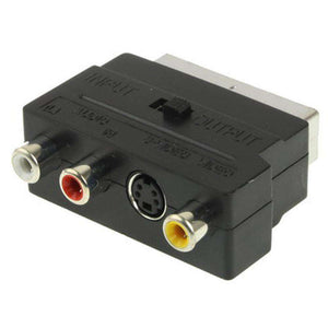 RGB Scart Male to S Video and 3 RCA Audio Adaptor - fommystore
