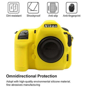 AMZER® Soft Silicone Protective Case for Nikon D850 - Yellow - fommystore
