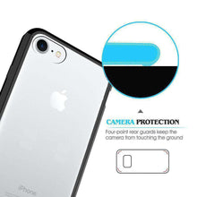 Load image into Gallery viewer, Shockproof Fusion Candy TPU Case with Clear Acrylic Back for iPhone 7/ iPhone 8 - Black - fommystore