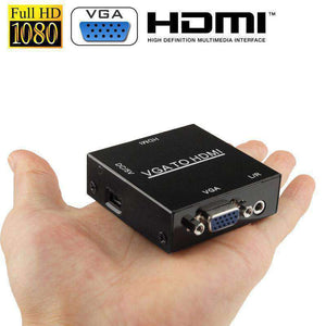 AMZER HD 1080P HDMI Mini VGA to HDMI Scaler Box AV Digital Converter Adapter - fommystore