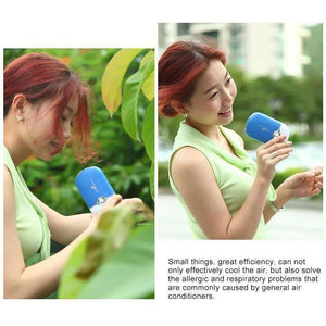 Portable Mini USB Charging Air Conditioner Refrigerating Handheld Small Fan - Black - fommystore