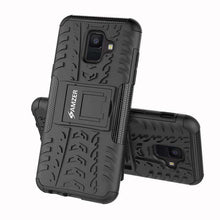 Load image into Gallery viewer, AMZER Shockproof Warrior Hybrid Case for Samsung Galaxy A6 - Black/Black - fommystore