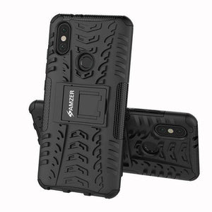 AMZER Shockproof Warrior Hybrid Case for Xiaomi Mi A2 - Black/Black - fommystore