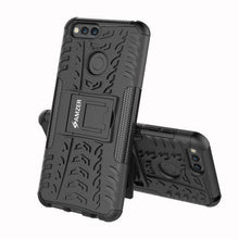 Load image into Gallery viewer, AMZER Shockproof Warrior Hybrid Case for Huawei Honor 7X - Black/Black - fommystore