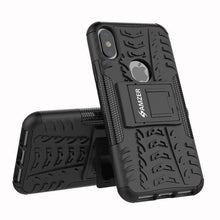Load image into Gallery viewer, AMZER Shockproof Warrior Hybrid Case for iPhone X - Black/Black - fommystore