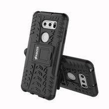 Load image into Gallery viewer, AMZER Shockproof Warrior Hybrid Case for LG V30 - Black/Black - fommystore