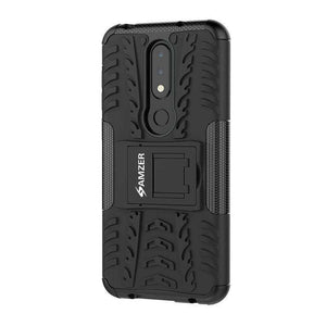 AMZER Shockproof Warrior Hybrid Case for Nokia 6.1 Plus - Black/Black - fommystore