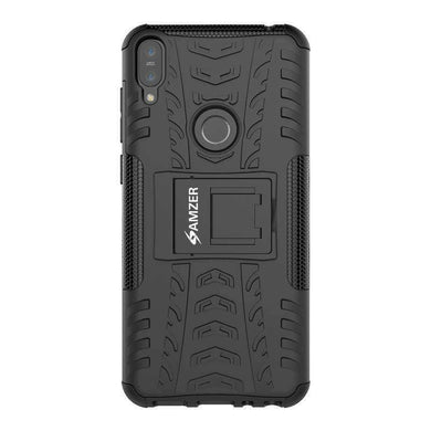 AMZER Shockproof Warrior Hybrid Case for Asus Zenfone Max Pro M1 - Black/Black - fommystore