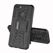 Load image into Gallery viewer, AMZER Shockproof Warrior Hybrid Case for Huawei Honor 9N - Black/Black - fommystore