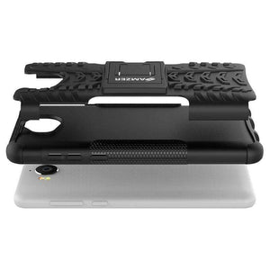 AMZER Shockproof Warrior Hybrid Case for Huawei Y5 2017 - Black/Black - fommystore