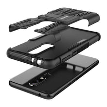 Load image into Gallery viewer, AMZER Shockproof Warrior Hybrid Case for Nokia 5.1 Plus - Black/Black - fommystore